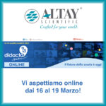 Altay sarà presente a Didacta online 2021!